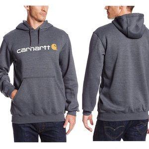 Carhartt Midweight Signature Logo Hoodie Grey XL